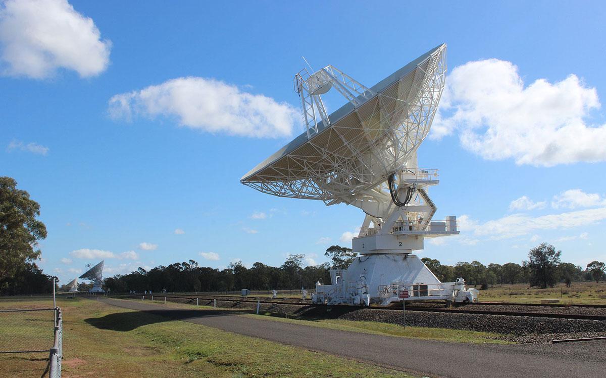 radio telescope near wee waa